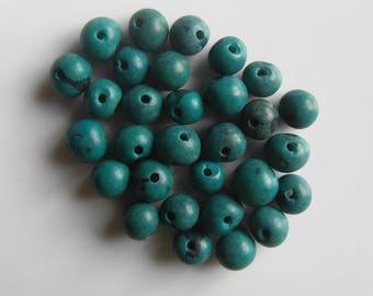Set of 30 seeds Acai beads blue duck