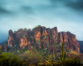 Clouds Over the Superstitions, Superstition Mountains, Arizona, Nature, Landscape Photography