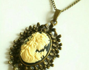 """Necklace bronze Camay """"Lady with Butterfly"""""""