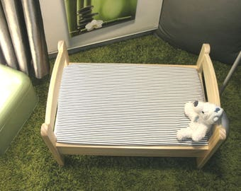 "Cloth cover 70 x 140 cm bed evolutionary ""striped"" baby Ptibidi"