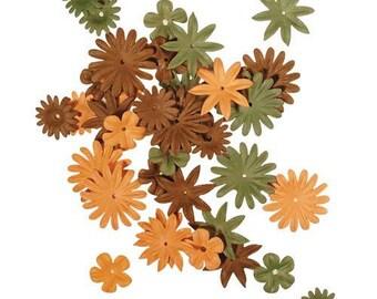dark brown tones RAYHER paper 36 flowers
