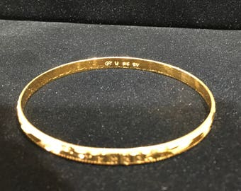 22 karat yellow gold bangle