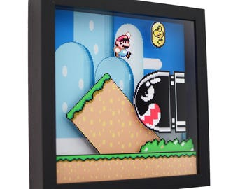 "Super Mario World - 3D Shadow Box (9"" x 9"")"