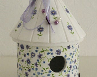 "Decorative birdhouse ""Spring flowers"""