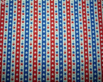 147 stars fabric blue/white/red coupon 35x50cm
