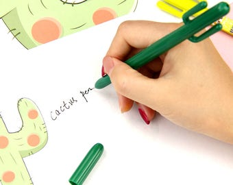Cactus Pen, Cactus Gel Pen, Planner Pen, Ink Pen, Pen Gift, Succulent Cacti, Novelty Pen, Floral Pen, Party Favors, Kids Crafts, Kid Gift