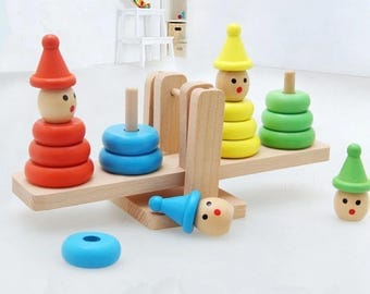 Wooden Building Block Balance Educational Toy For Kids