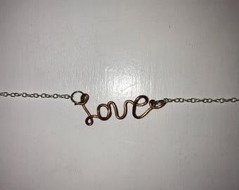 Copper Love Braclet