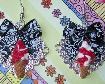 Italian ice polymer clay earrings