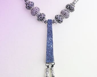 Blue Titanium Drusy necklace
