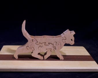 Wooden Free-Standing Kitten Puzzle