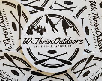 "5"" X 5"" WeThriveOutdoors Sticker"