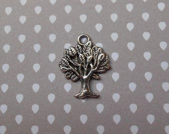 1 tree of life in antique silver charm