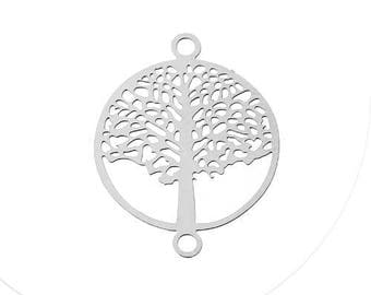 A connector round tree, stainless steel, 19 x 15 mm, thickness: 0.2 mm