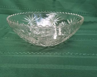 Anchor Hocking Star of David Pattern Salad Bowl