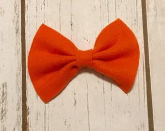 Orange Felt Bow