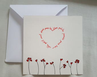 """card for any event """"sweet note, a thought"""""""