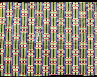 "coupon green African ""kente"" cloth"