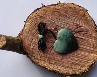 New Zealand Greenstone/Pounamo Herz