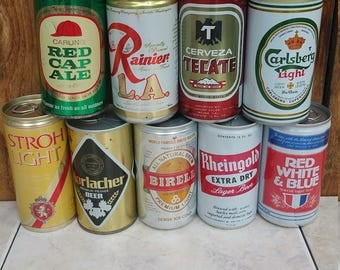 Vintage Beer Cans...perfect for any bar