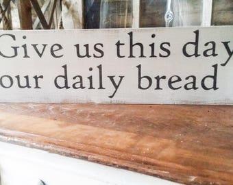 Farmhouse prayer sign