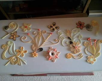 creating quilled flowers quilling bedroom scrapboopking quilling personalized, birthday gift, party, birth,