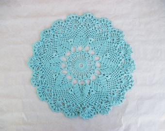 Blue DOILY crochet