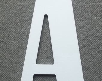 Model plastic PVC letter BERNARD CONDENSED; all letters available