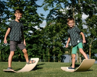 Balance board/ Curvy board/ Rocking board: Hand made plywood toy for kids