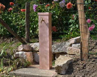 Garden fountain copper wallflower Misterzinc