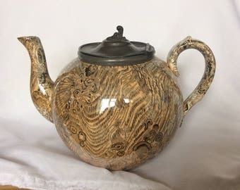 Mid 19 century Staffordshire teapot great collection for age