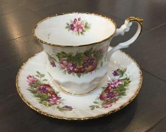 Rosina Bone China Teacup Cherries and Berries Design