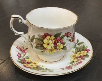 "Rosina Bone China Teacup ""Wild Flowers"" Queens Design"