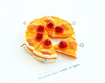 Charm hand Cake Topper with attached Orange