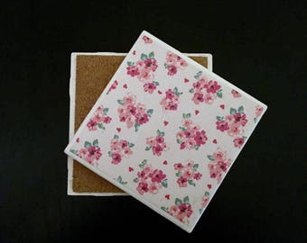 Coaster - Pink Floral Theme