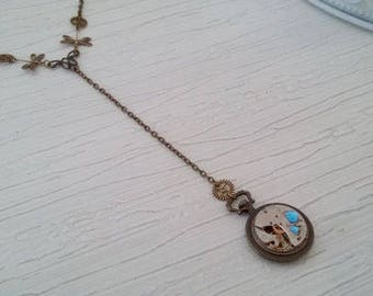 Steampunk Pocket Watch pendant necklace