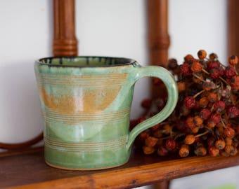 Handmade ceramic Mug, wheel thrown, Coffee and Tea Mug