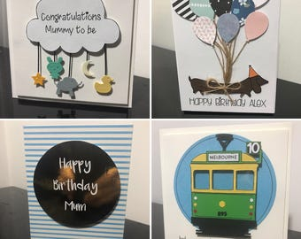 Personalised Handmade Cards - made to order