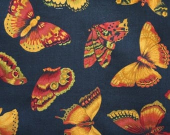 Coupon patch print butterfly fabric
