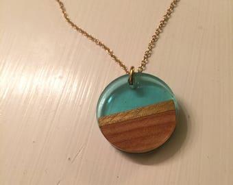Custom Resin wood Pendant