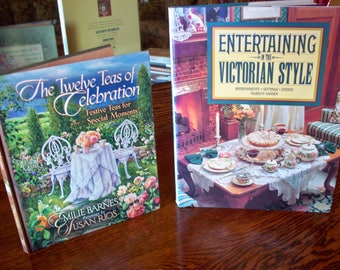 3 Tea Party Inspired cookbooks: 12 Teas of Celebration, Entertaining in the Victorian Style, and Devonshire Recipes
