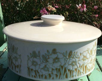 Hornsea Pottery Lidded Fleur Serving Dish Tureen in Vintage Farmhouse Country Shabby Chic