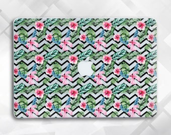 Flower zigzag Macbook Pro Case Flower Laptop Case Macbook Hard Case Macbook Air Flower Macbook Air 13 zigzag Macbook Flower Macbook Case