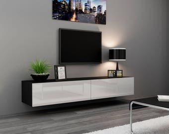 seattle 24 tv standu2013 two doors lacquered high gloss mdf tv unit