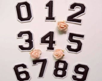 letter or Number Patch Iron on Sew on patch appliqueNO.19