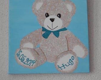 """acrylic painting """"Teddy bear soft"""" customizable"""
