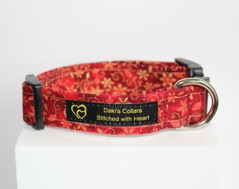 Christmas dog collar, Holiday dog collar, Handmade dog collar