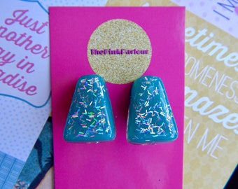 Turquoise  1950's Vintage Inspired Clip On Earrings