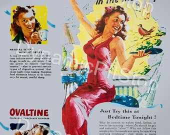 30x40cm Ovaltine Vintage Advert Tin Sign