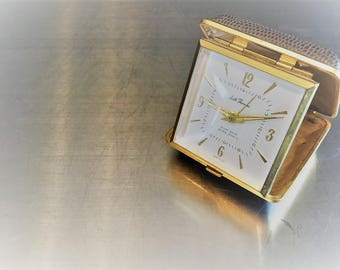 Vintage Seth Thomas Travel Alarm Clock - Eight Days Seven Jewels - Made In Germany